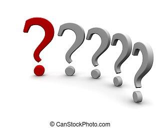 Marcas de preguntas. 3d ilustrado.