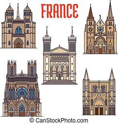 Marcas de viajes de arquitectura gótica francesa