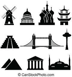 Marcas mundiales y monumentos