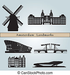Marcas y monumentos de Amsterdam