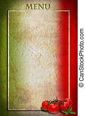 marco, bandera, tomates, italiano