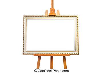 marco, caballete, pintura