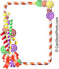 marco, candies., colorido