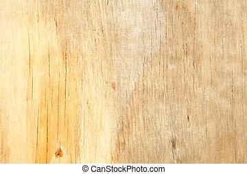 marco completo, manchado, arriba, amarillo, agua, grano de madera, cierre