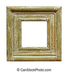 marco, cuadrado, imagen, afligido