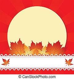 Marco de saludo de otoño