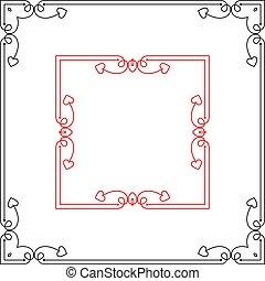marco, diseño, frontera