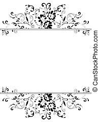 Marco floral en blanco y negro