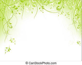 marco, follaje, verde