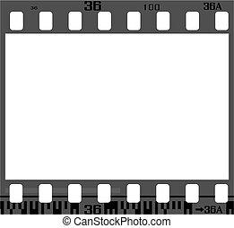 marco, negativo, película
