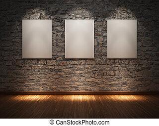 marco, pared de piedra