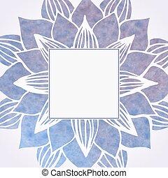marco, pattern., elemento, acuarela, vector, violeta, floral