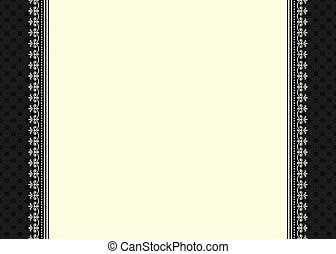 marco recargado, vector, frontera