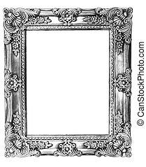 marco, viejo, resurgimiento retro, plata