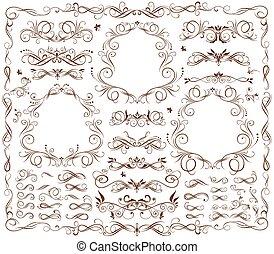 marcos antiguos y elementos de diseño