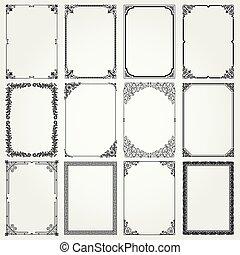 marcos de decoración y fronteras