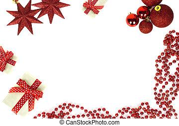 Marcos de Navidad aislados en el fondo blanco