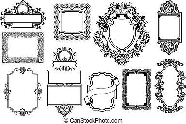 Marcos decorativos de diseño gráfico