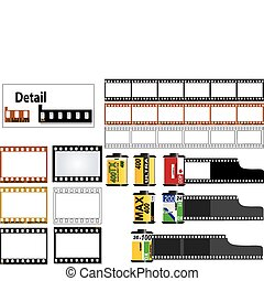 marcos, diapositiva de 35m m, película