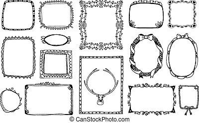 marcos dibujados a mano