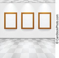 marcos, habitación, tres