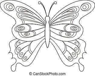 Mariposa, contorno