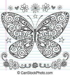Mariposa dibujada