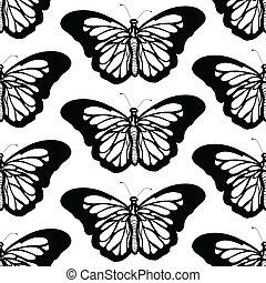 Mariposa Gráfica, blanco y negro