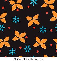 mariposa, seamless, vector, plano de fondo, diseño, simple