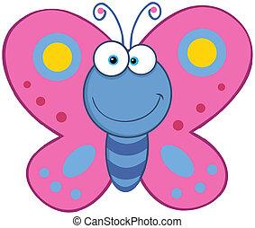 mariposa, sonriente