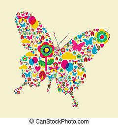 mariposa, tiempo del resorte