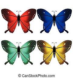 Mariposas contra blancos