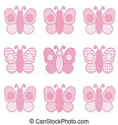 Mariposas, gingham y lunares