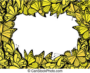 mariposas, marco