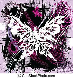 mariposas, vector, backgroung