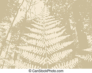 marrón, silueta, ilustración, helecho, plano de fondo, vector