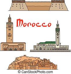Marruecos históricos monumentos y turismos