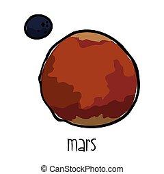 Marte dibujado