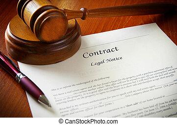 martillo, contrato, empresa / negocio, legal