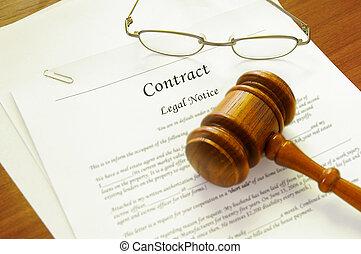 martillo, ley, contrato legal