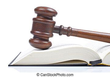 martillo madera, libro de derecho