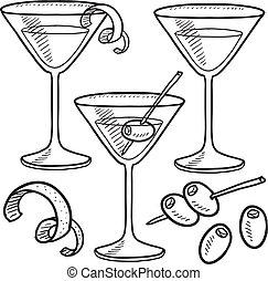 Martini objeta el boceto