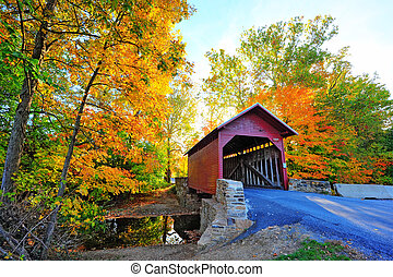 Maryland cubrió el puente en otoño