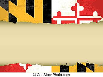 Maryland rayó la bandera