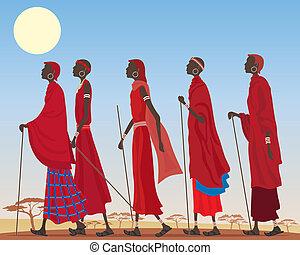 masai, grupo