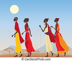 masai, mujeres