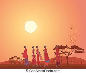 masai, paisaje