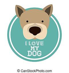 mascota, amor, diseño
