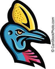 Mascota de cabeza de Cassowary