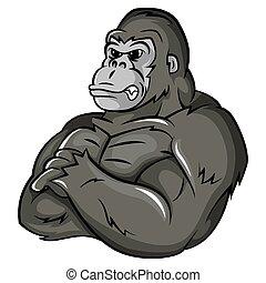 Mascota fuerte gorila